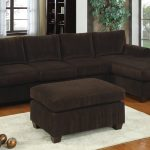Dark Brown Poundex Bobkona Modular Sectional With Ottoman And Patterned Rug