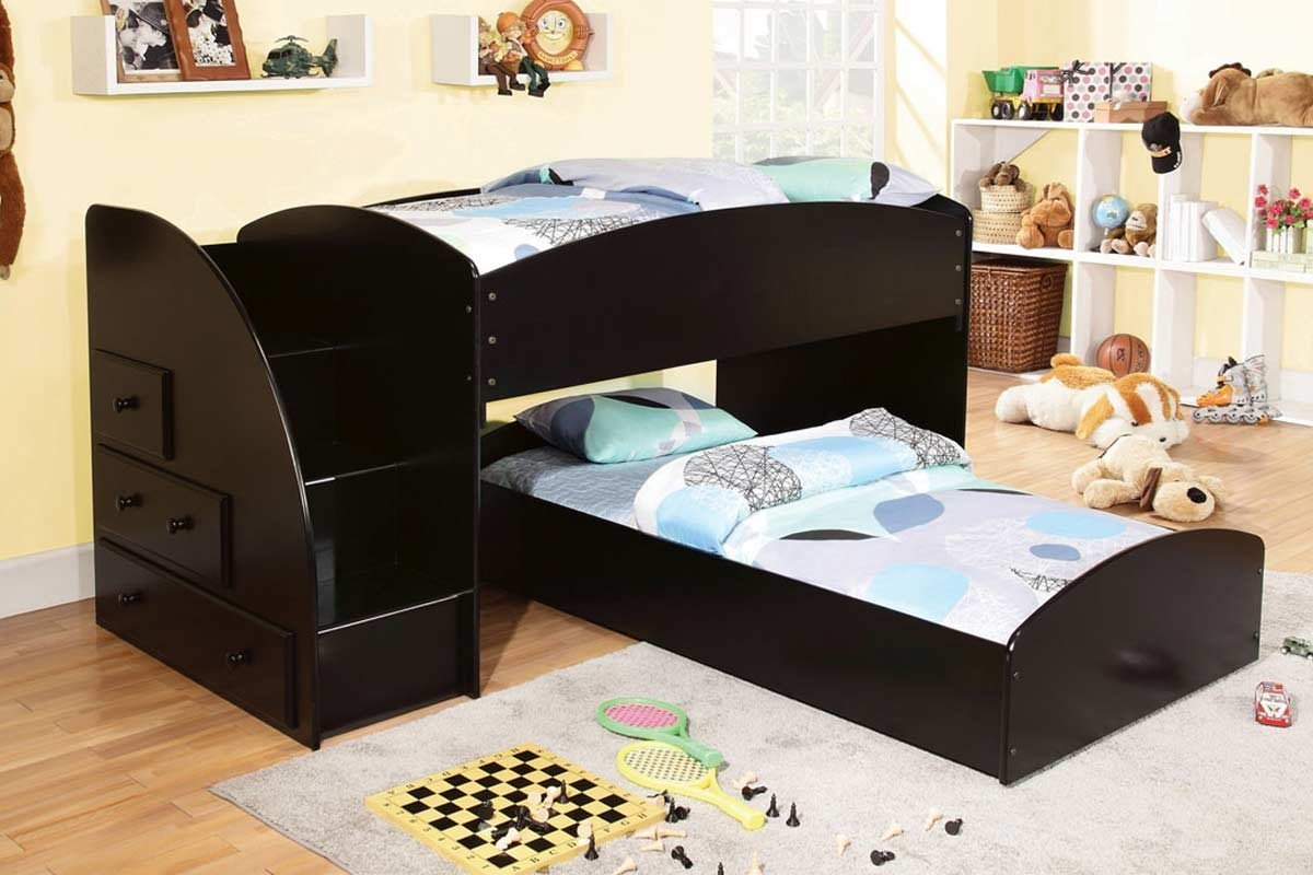 Best toddler bunk beds with stairs homesfeed for Toddler bunk beds