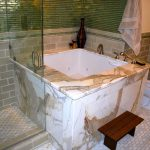 Dazzling-Soaking-Tub-method-San-Francisco-Asian-Bathroom-Inspiration-with-Asian-bidet-body-sprays-calcutta-gold-Glass-Tile-jacuzzi-tub-Japanese-Kohler-marble-master