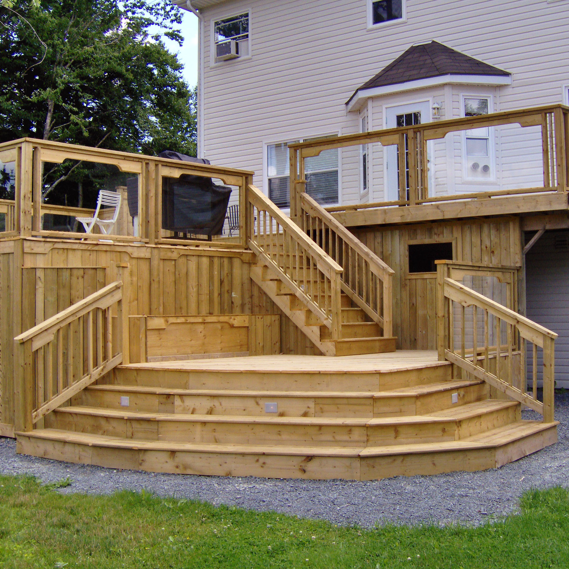 Awesome home deck designs homesfeed for Backyard deck pictures