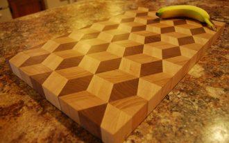 Decorative Big Cutting Board With Banana