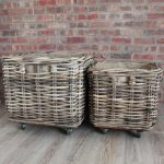 Double Rolling Extra Large Storage Baskets
