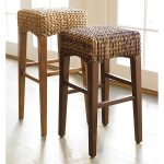 Double Seagrass Counter Stools With Different High