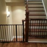 Double Wrought Iron Child Safety Gates For Stairs