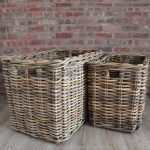 Extra Large Storage Baskets With Natural Rustic Style