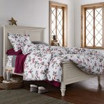 Floral Bed Theme For Winter With Awesome Duvet Cover With Grey And Red Color