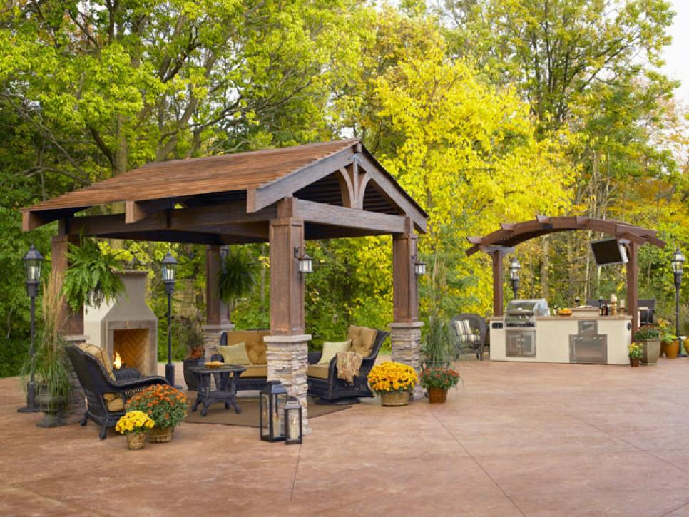 Gazebo plans with fireplace homesfeed for Plans for gazebo with fireplace