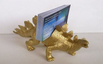 Gold Dino Of Funny Desk Accessories For Card Name