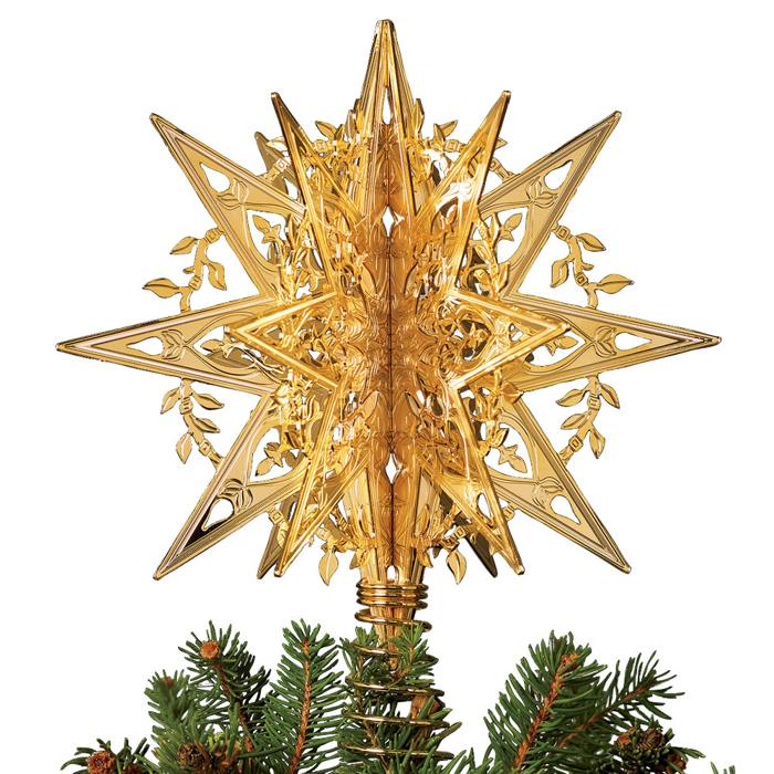 gold star of unique christmas tree toppers