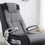 Grey Black Gaming Chair For Adults With Arms