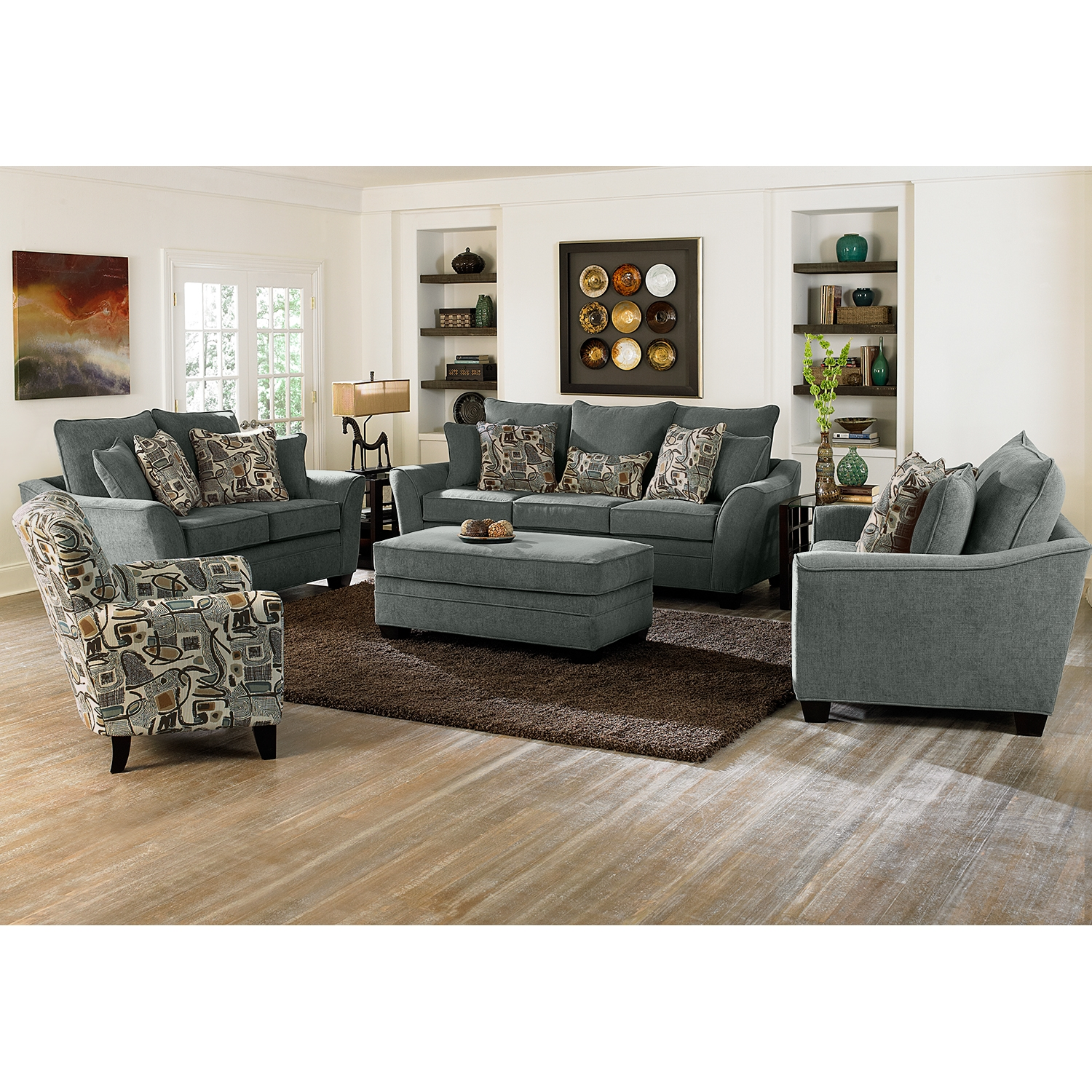 Living room chair and ottoman modern house Loungers for living room