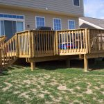 Home Deck With Stairs At Home Outdoor