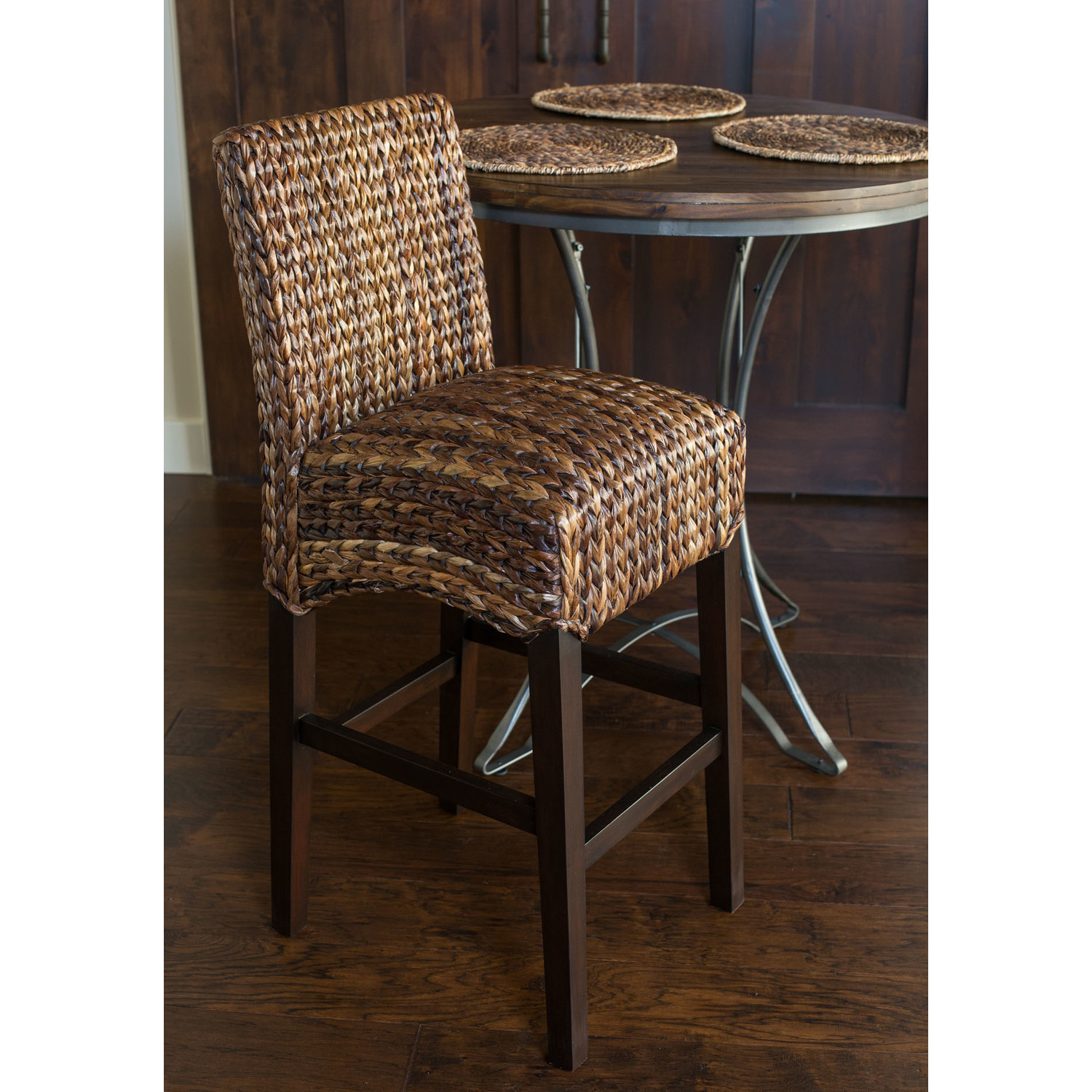 Unique Seagrass Counter Stool Homesfeed