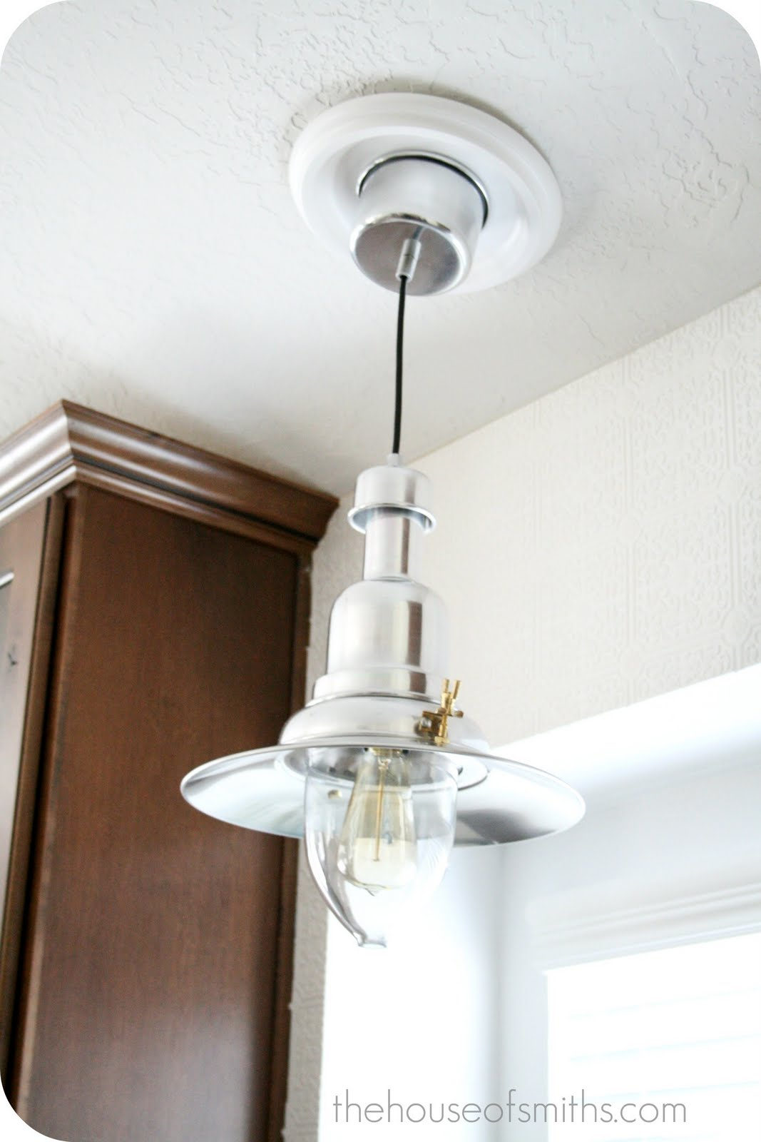 Ikea White Light Fixture That Convert Recessed To Pendant