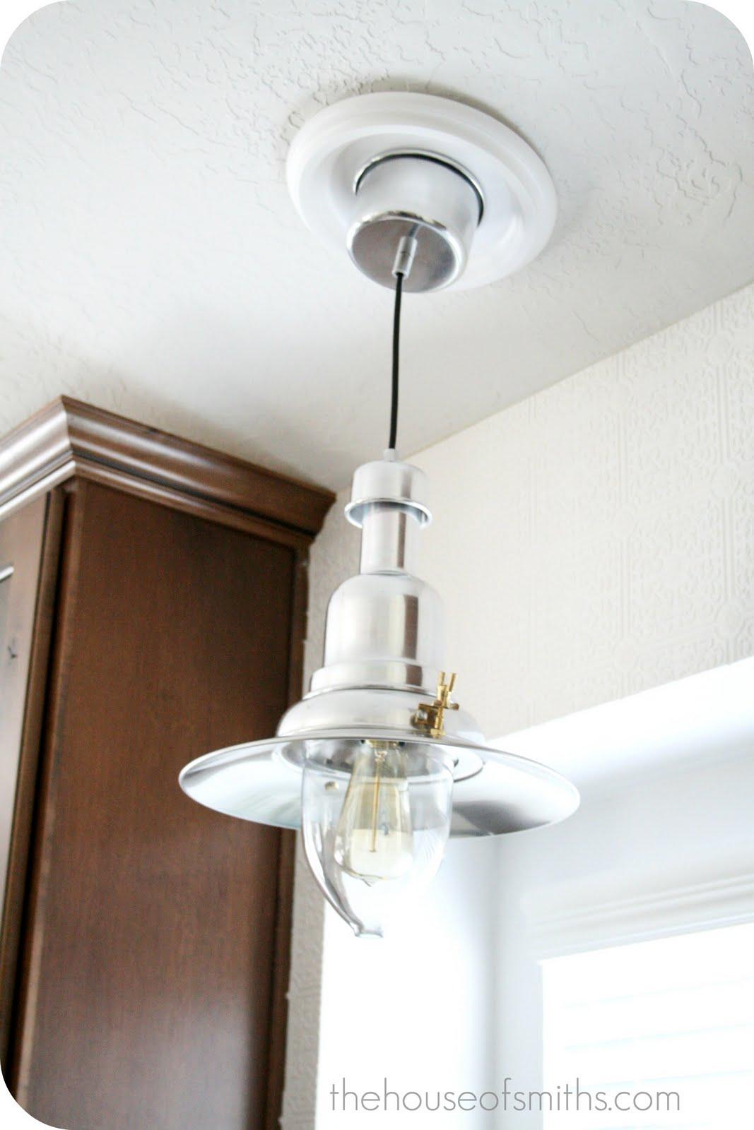 ikea white light fixture that convert recessed light to pendant. Black Bedroom Furniture Sets. Home Design Ideas