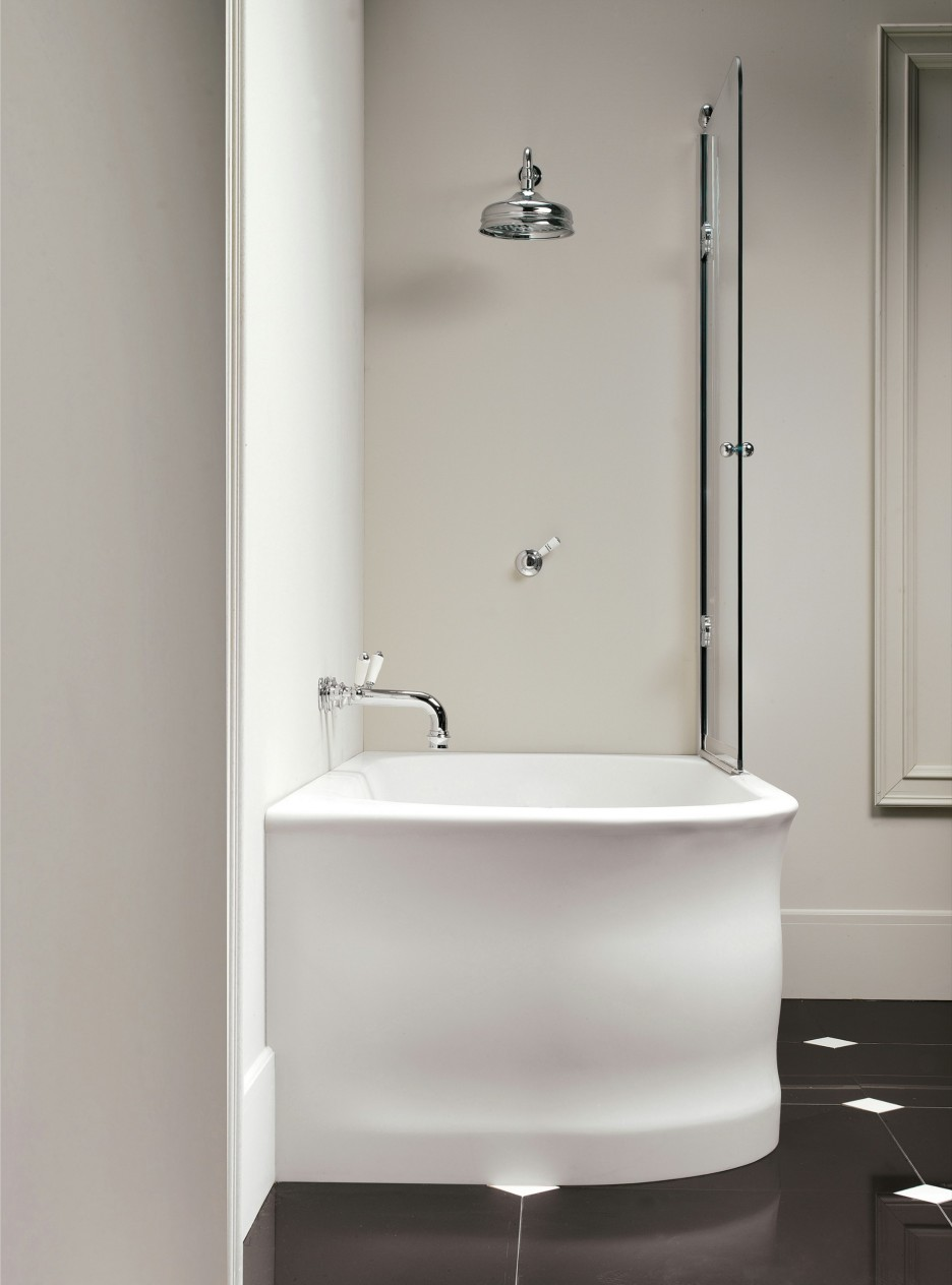 Small Corner Bath : corner bathtub will save your bathroom space