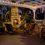 Large Wooden Pergola With Gazebo Plans With Fireplace And Rustic Style