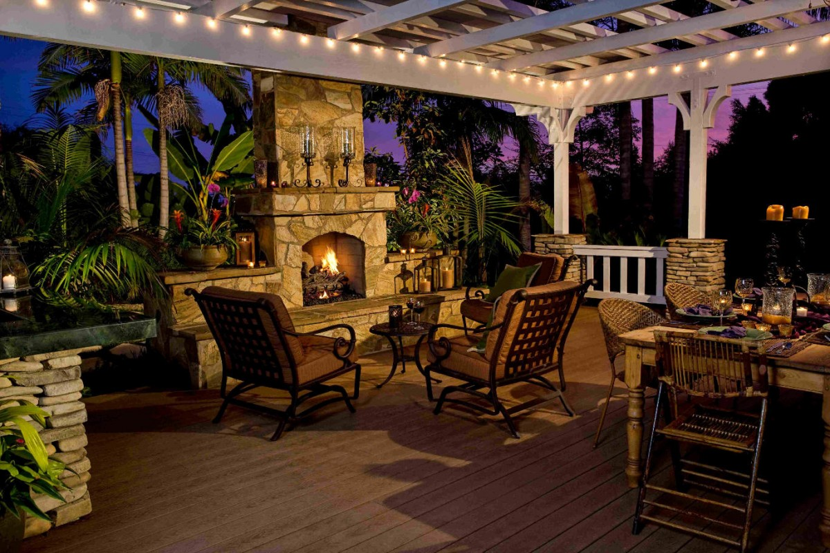 Gazebo plans with fireplace homesfeed for Outdoor fireplace plans