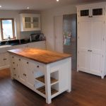 Long Wooden Stand Alone Kitchen Islands With Drawers And Corner Double Racks