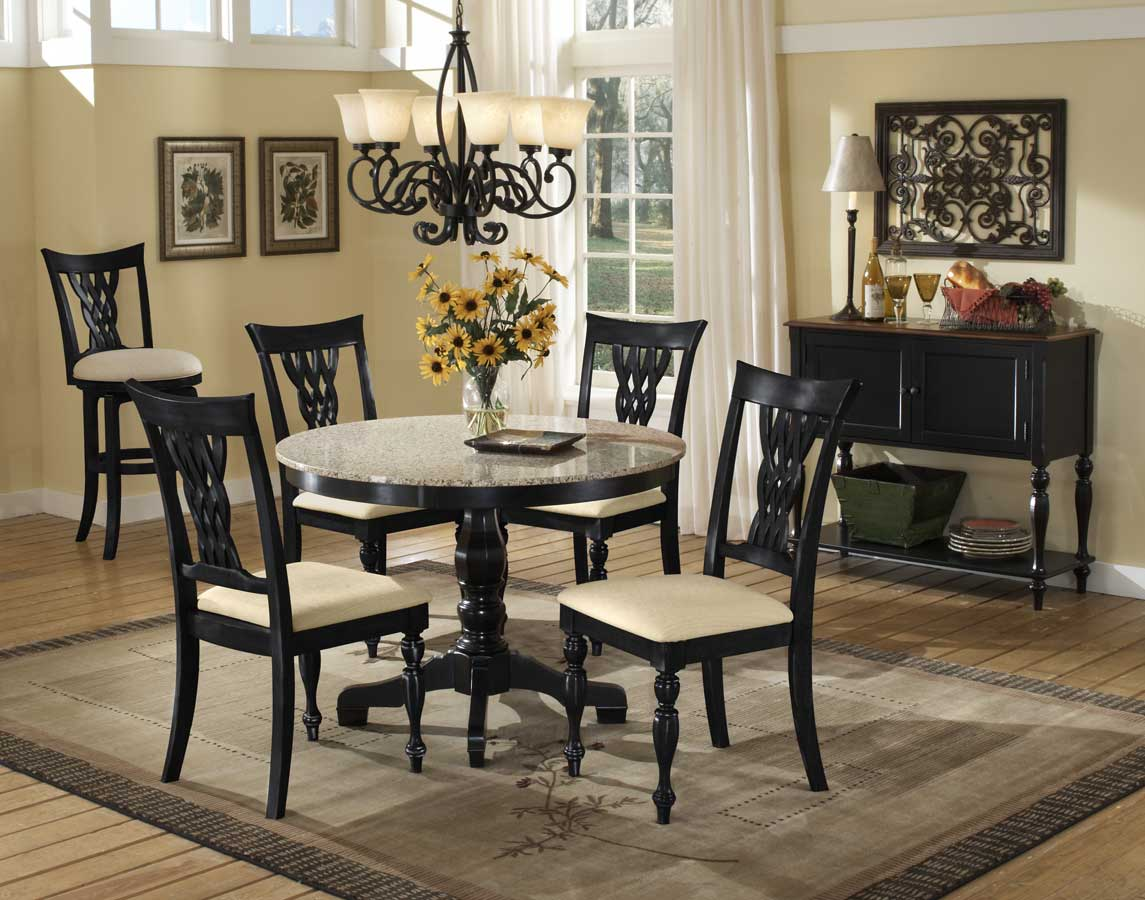 Beautiful granite dining table set homesfeed for Beautiful dining sets