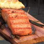 Meal On Big Cedar Planks For Grilling
