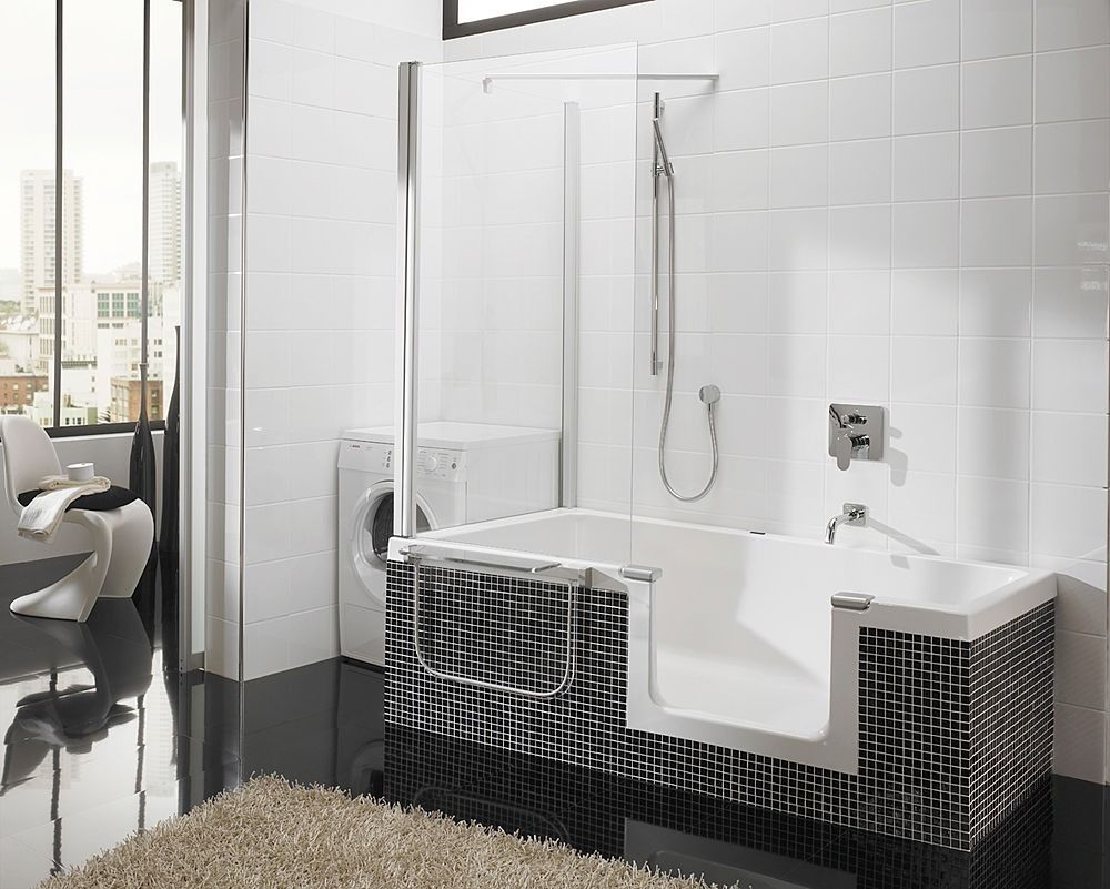 Bon Modern Small Bathtubs With Shower Washing Machine Fur Rug