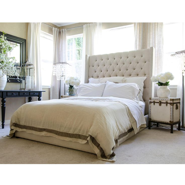 angie upholstered bed white king eastern modern tall with bedding bedroom bench