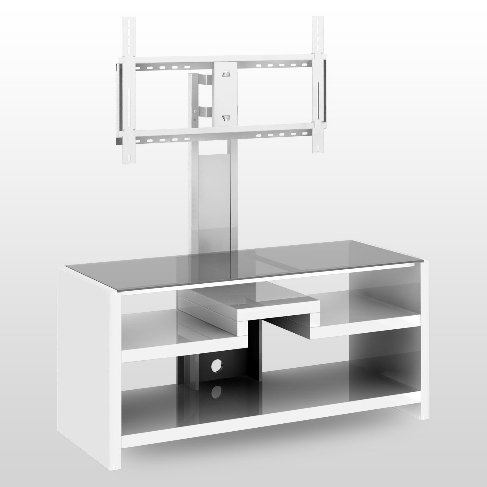 Cool flat screen tv stands with mount homesfeed for White plasma tv stands