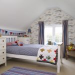 Nautical Bedroom Furniture For Children Bedroom With Star Theme On Bed Sea Theme On Wallpaper With White Cabinet