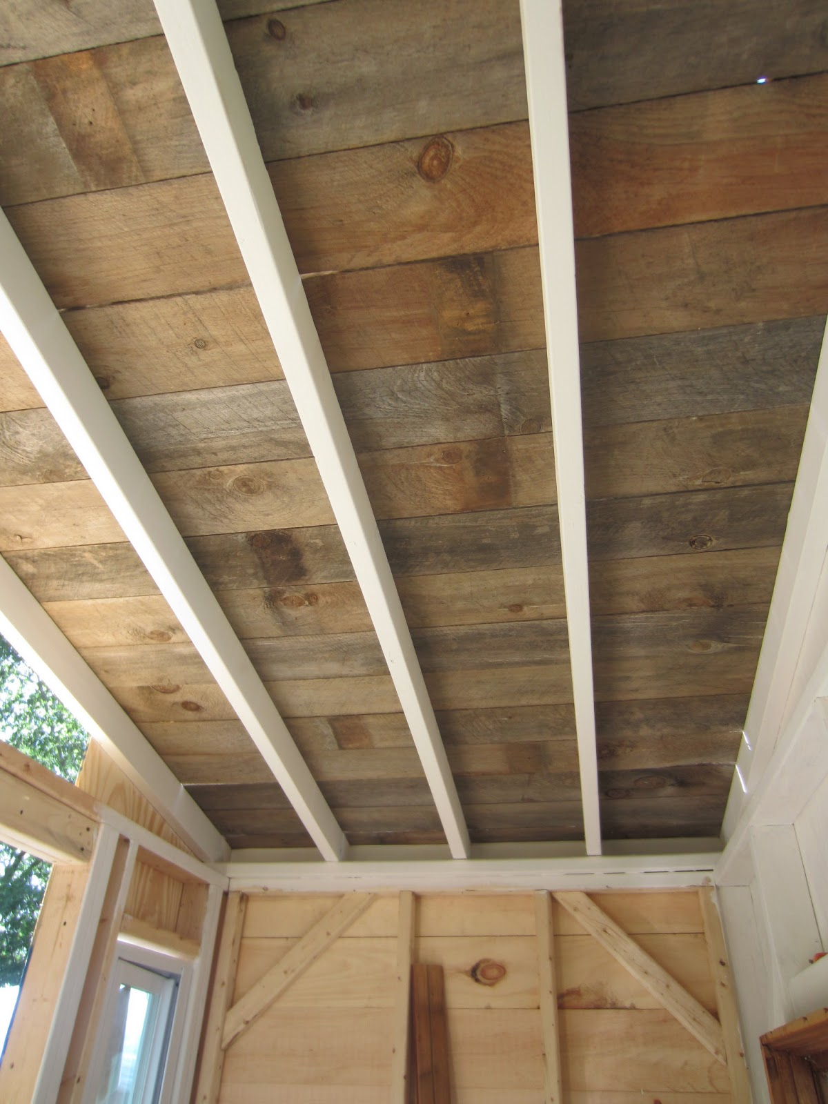 ceiling beam painting wood by bianco new ceilings gallery refinishing