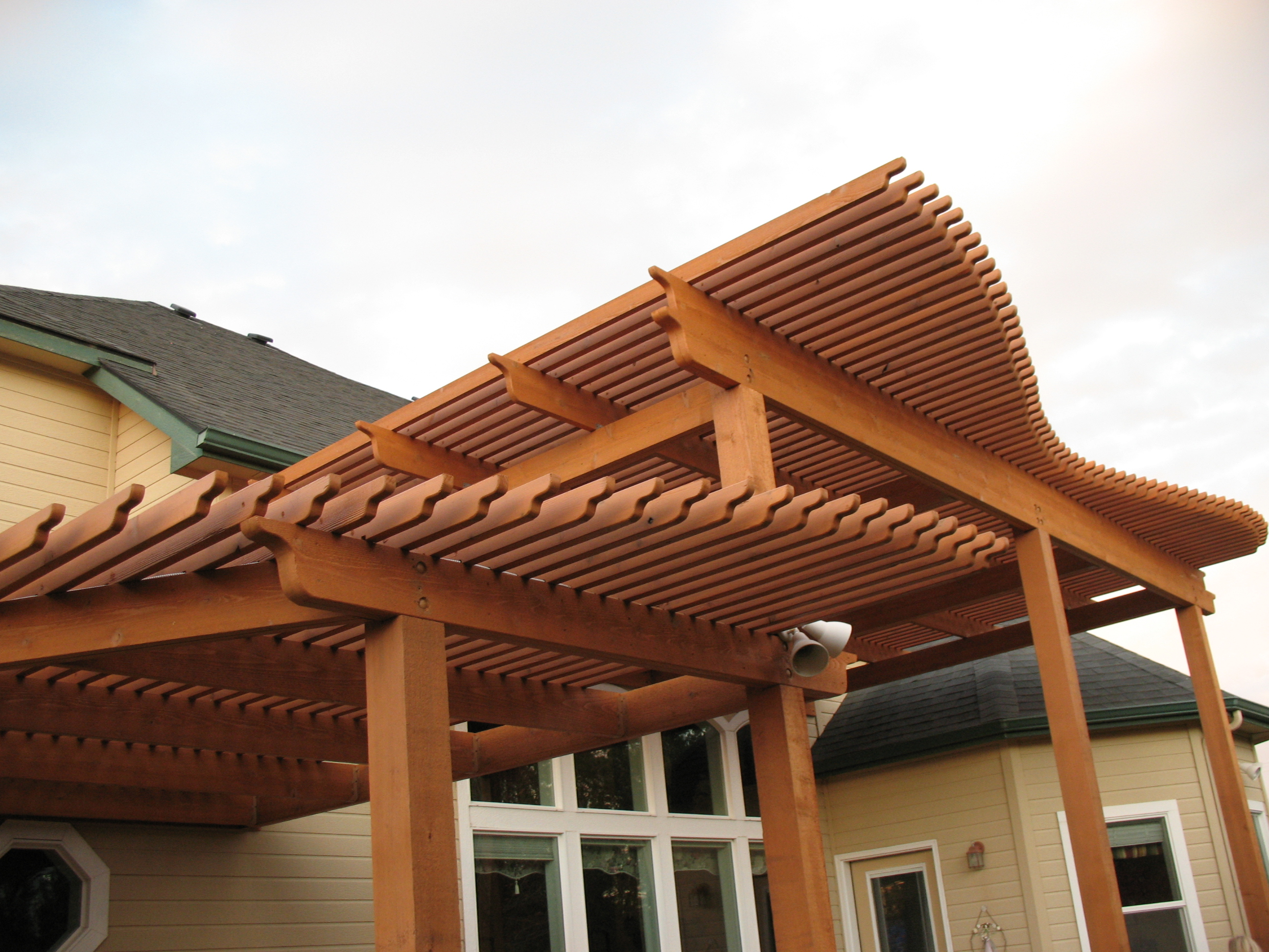 Perfect Color Wooden Patio Cover Design