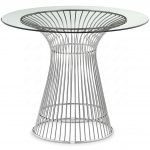 Platner Side Table With Glass Surface