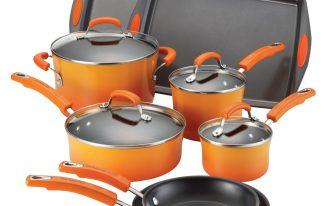 Porcelain Rachael Ray Dutch Oven Set With Orange Color Design
