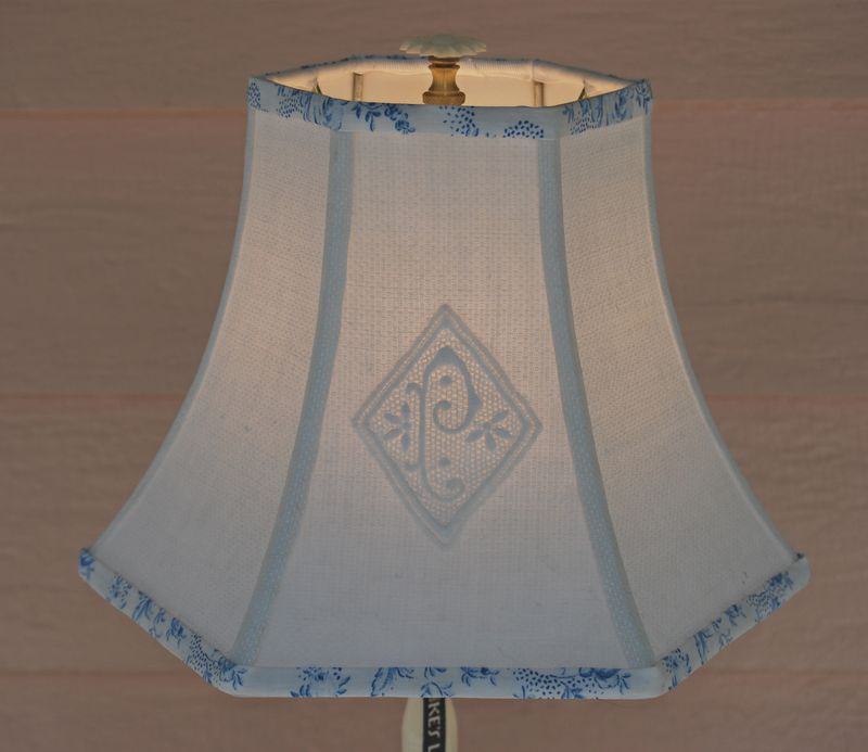 Cool bell shaped lamp shades homesfeed pretty blue bell shaped lamp shades with side patterned aloadofball Image collections