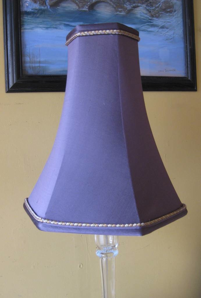Cool bell shaped lamp shades homesfeed purple tall bell shaped lamp shades with frame on wall aloadofball Choice Image