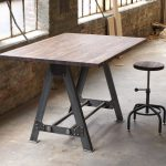 Rectangular Industrial Pub Table WIth Chair