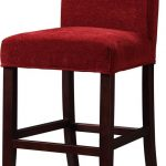 Red Bar Stool Slipcovers With Wooden Bases
