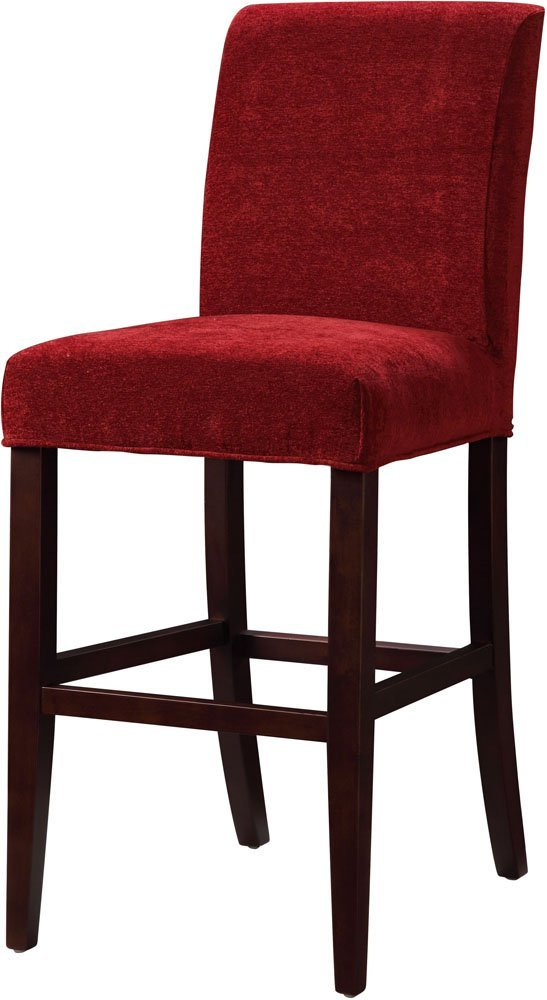 Bar Stool Slipcovers HomesFeed : Red Bar Stool Slipcovers With Wooden Bases from homesfeed.com size 547 x 1000 jpeg 62kB