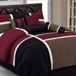 Red Brown Black And White Color Of Comforter Sets For Men