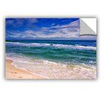 Removable Wall Art Beach Image Blue Sky
