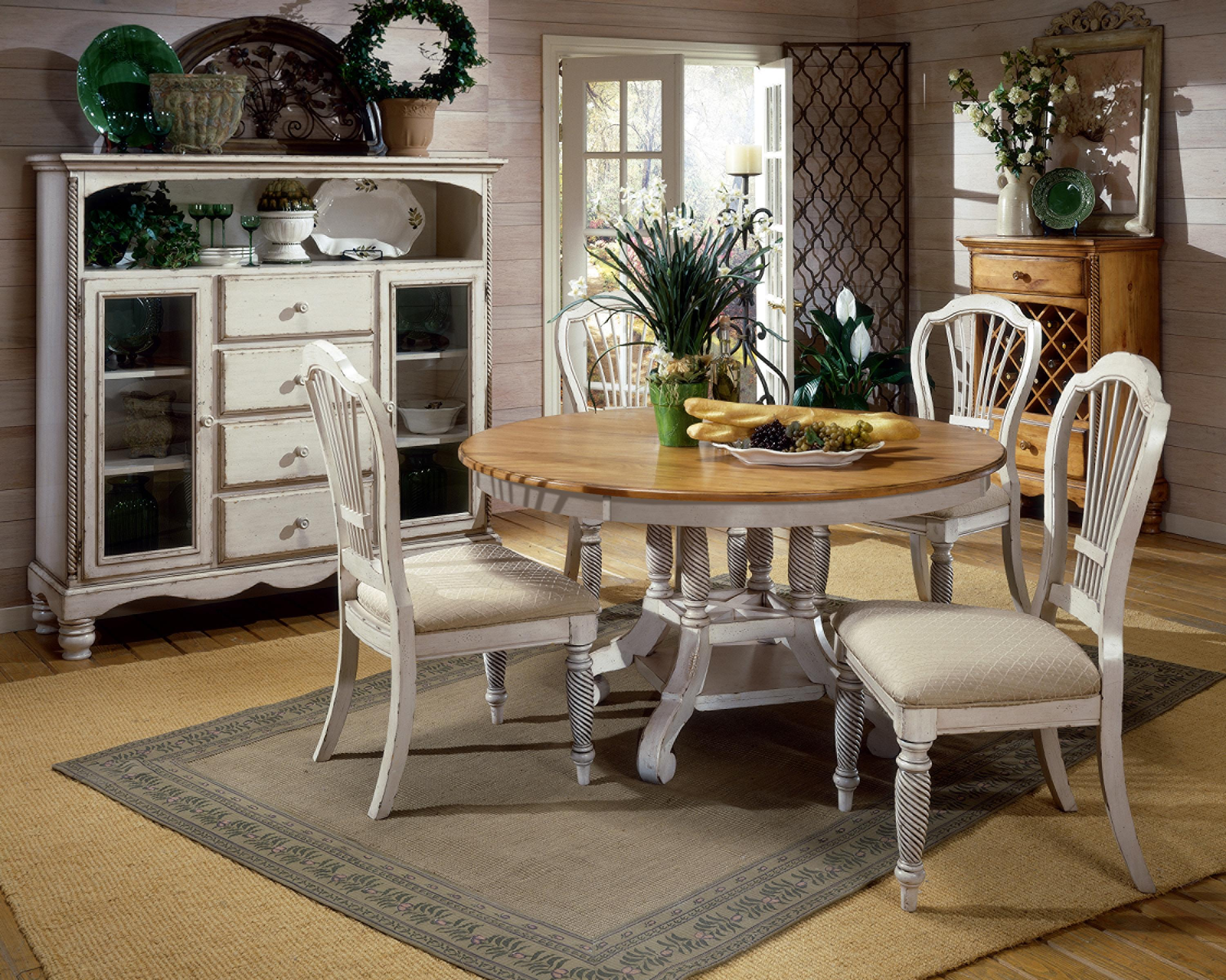 Round White Kitchen Table With Four Chairs Grey Carpet Cabinet With Drawers : round kitchen table set for 6 - pezcame.com