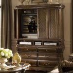 Rustic Wooden TV Hutch With Doors Racks And Drawers Plus Glass Coffee Table