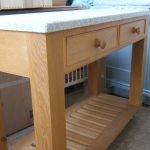 Simple Oak Wooden Kitchen Island