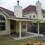 Simple Patio Cover Wooden Design For Front Home
