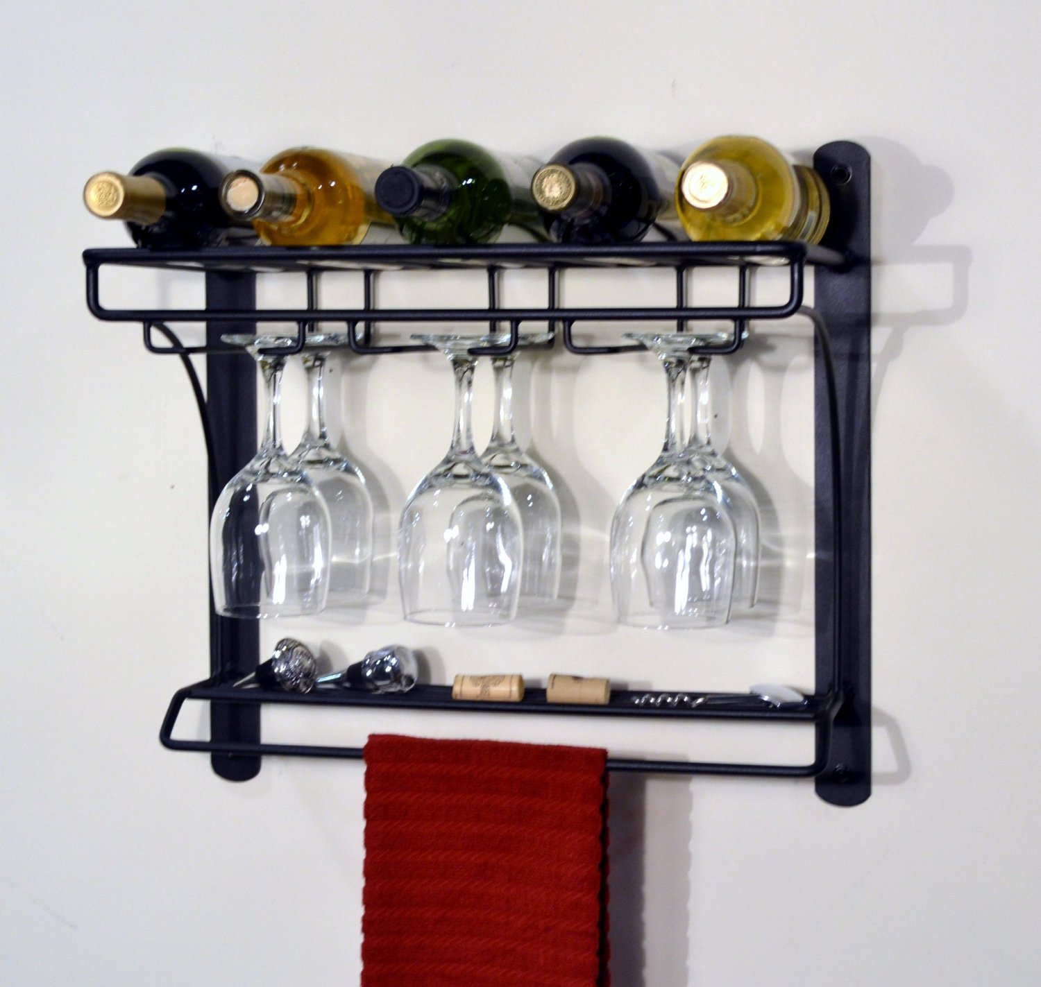 cool wall mounted wine glass holder  homesfeed - simple steel wall wine glass holder