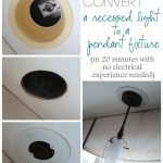 Simple Way For Hanging And Convert Recessed Light To Pendant