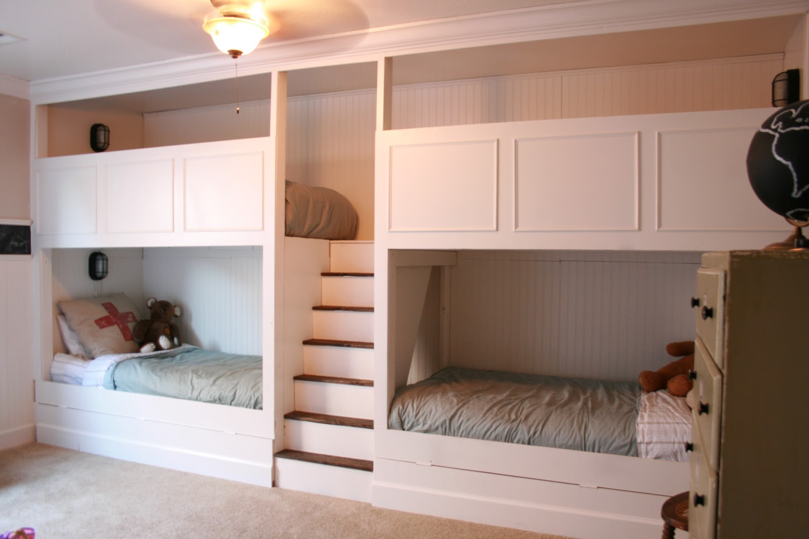 Bed Attached To Wall wonderful quadruple bunk beds | homesfeed