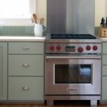 Small Grey Kitchen Cabinet Set With Stove And Ikea Stainless Steel Backsplash