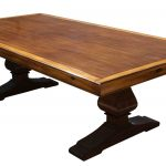 Square Wooden Table WIth Pedestals