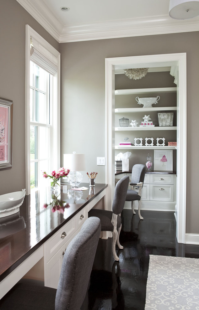 Beau Top Rated Interior Paint With Gray Wall And Chairs For Home Office